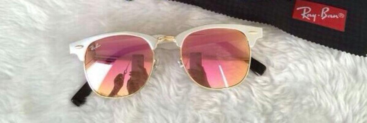 Ray Ban Clubmaster Rose Lançamento   Óculos Feminino Ray Ban Nunca ... 4033184e5a