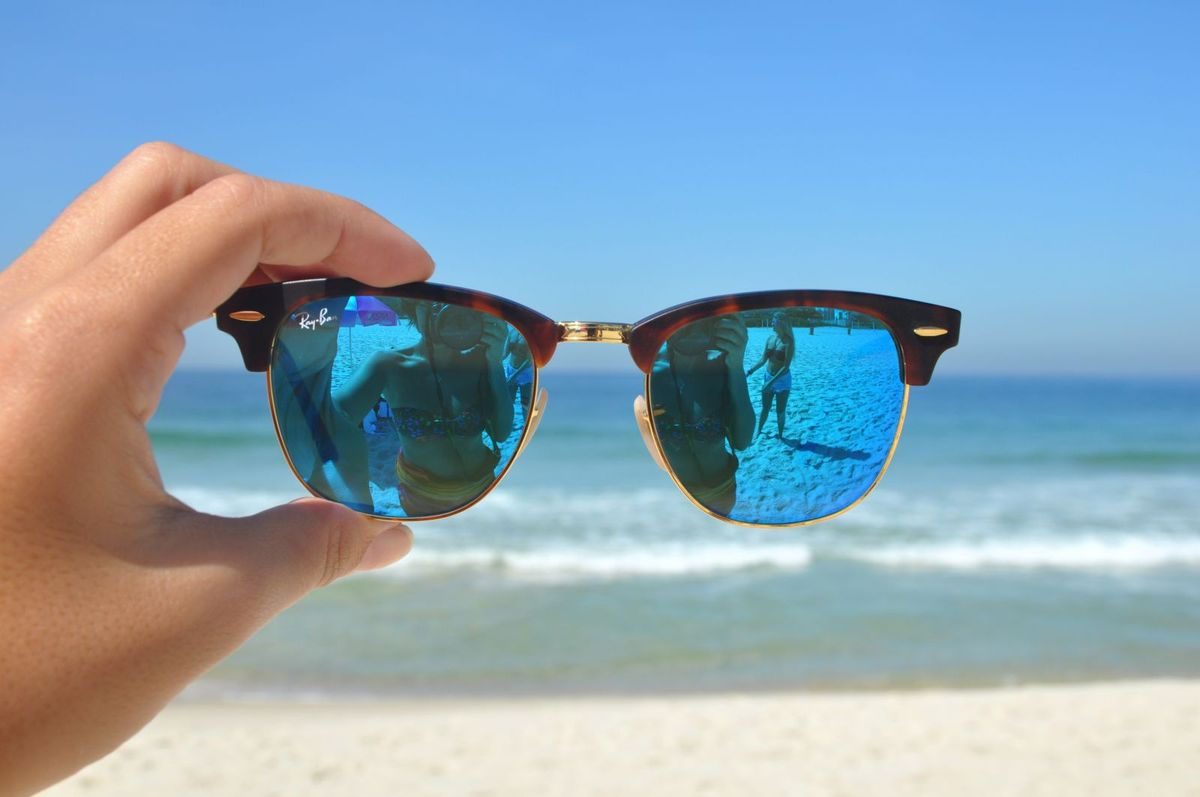 bdb78c239098b ray ban clubmaster tartaruga com azul espelhado - óculos ray ban