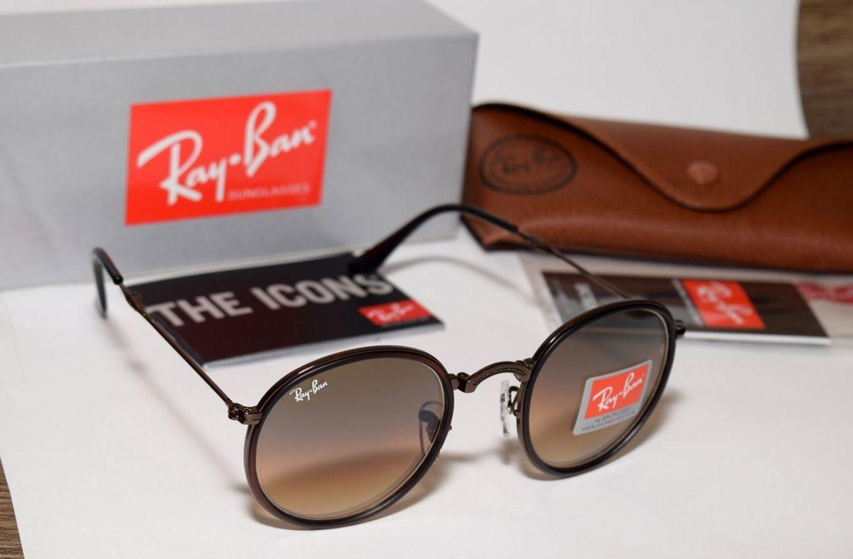 ray-ban dobrável rb3517 marrom lentes marrons tamanho 54 - óculos ray-ban d2e346ff4c