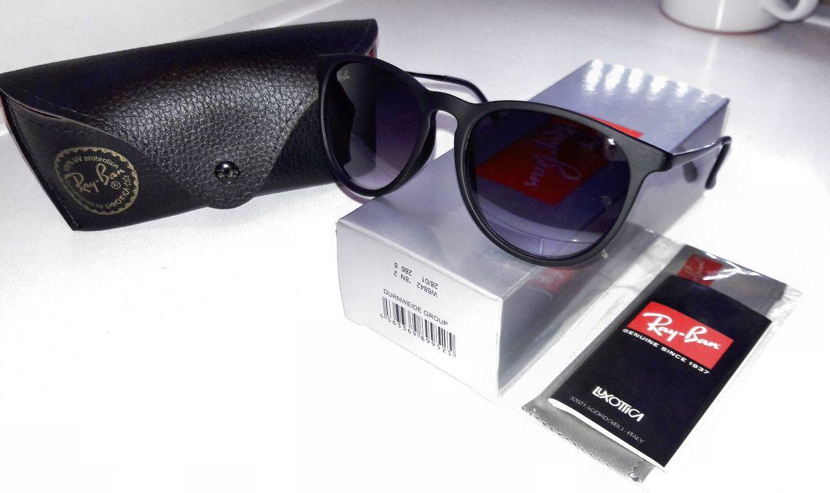 ray ban erika velvet preto - óculos ray-ban