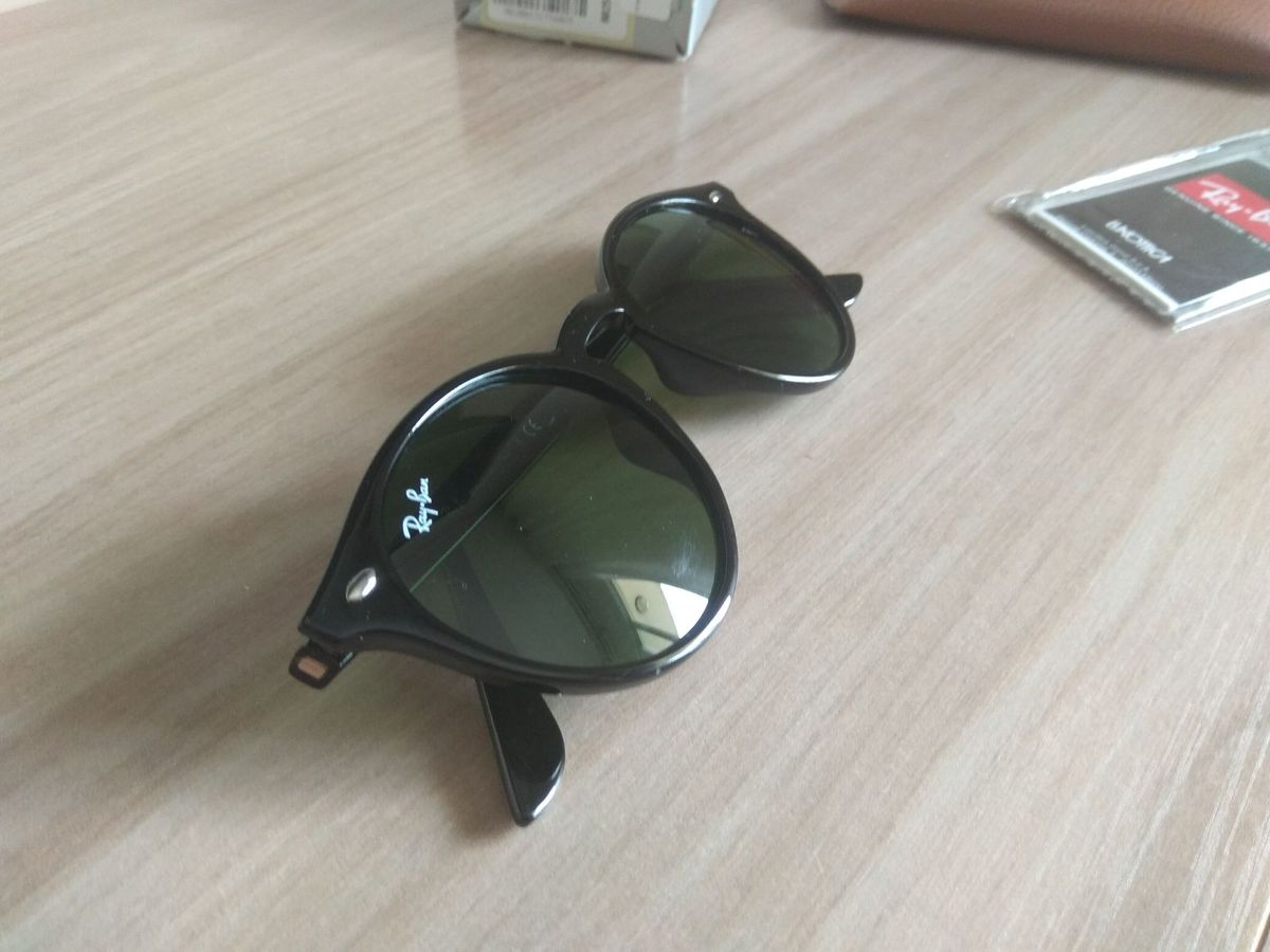 Ray Ban Highstreet Preto com Lente Verde Escuro Rb2180   Óculos Feminino  Ray Ban Nunca Usado 28106991   enjoei 054b64c774