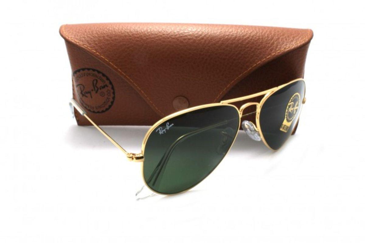 8736e0b94 Ray-ban Original Aviador Dourado G15 Grande   Óculos Masculino Ray ...