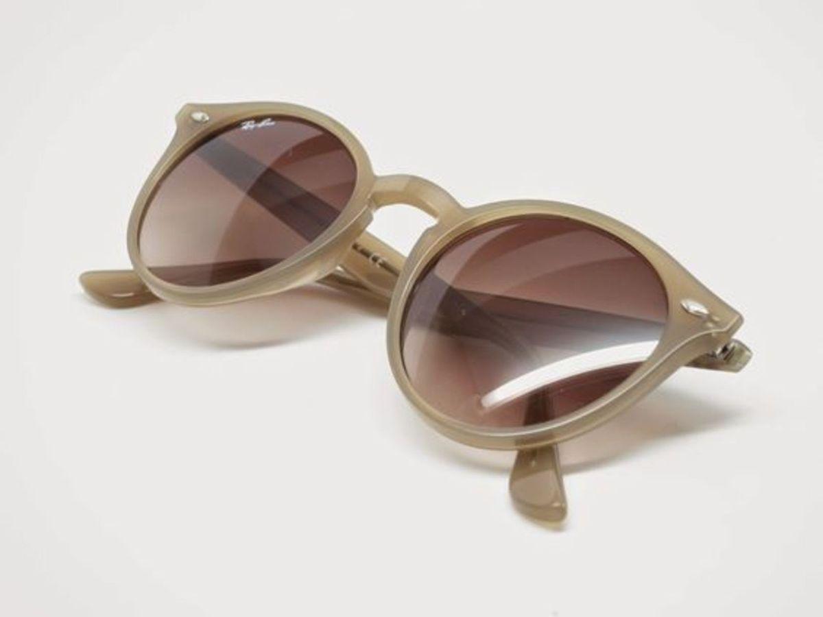 ray ban rb2180 tartaruga lente marrom degradê round highstreet - óculos ray  ban a1a4af665a
