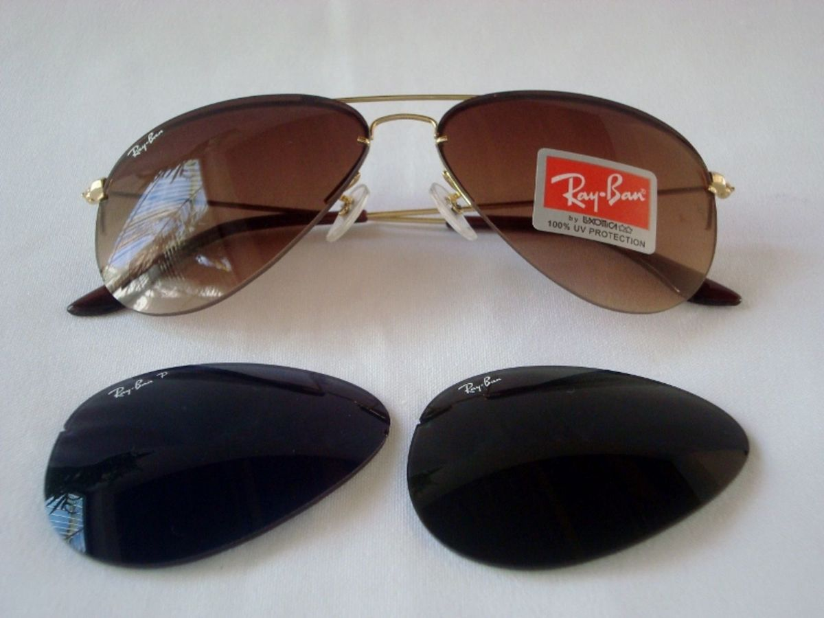 91a10d84c4892 Ray Ban Rb3460 Flip Out Troca Lentes Large Metal Ii 001 58-14 ...