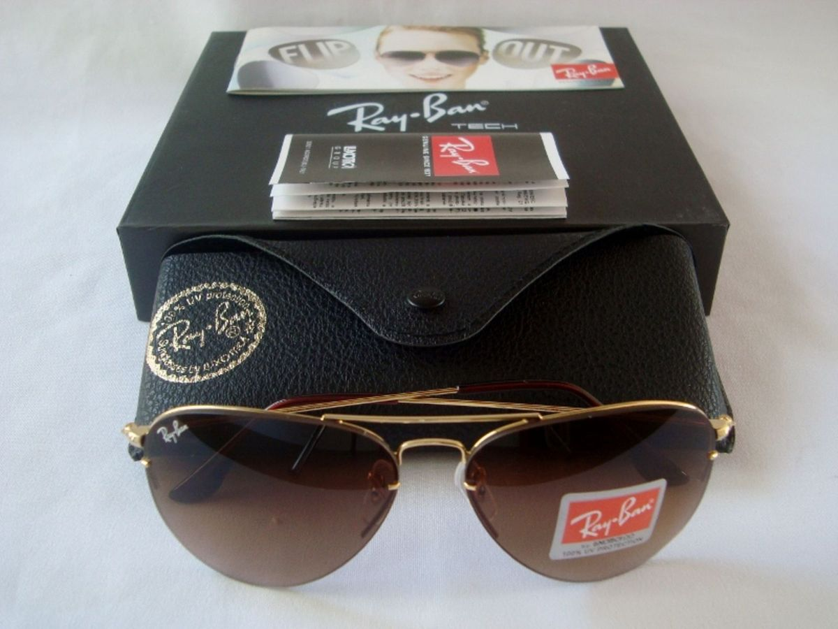 dfd5d00e1 ray ban rb3460 flip out troca lentes large metal ii 001 58-14 - óculos