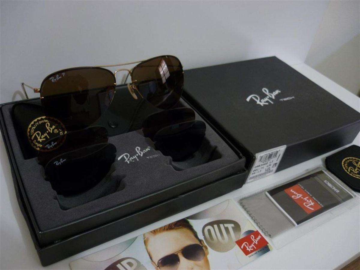 Ray Ban Rb3460 Flip Out Troca Lentes Large Metal Ii 001 58-14   Óculos  Masculino Ray Ban Nunca Usado 1366199   enjoei a8b0d241f4