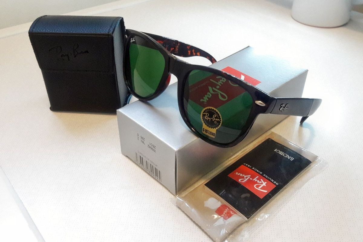 ray-ban rb4105 wayfarer folding dobravel - óculos ray-ban