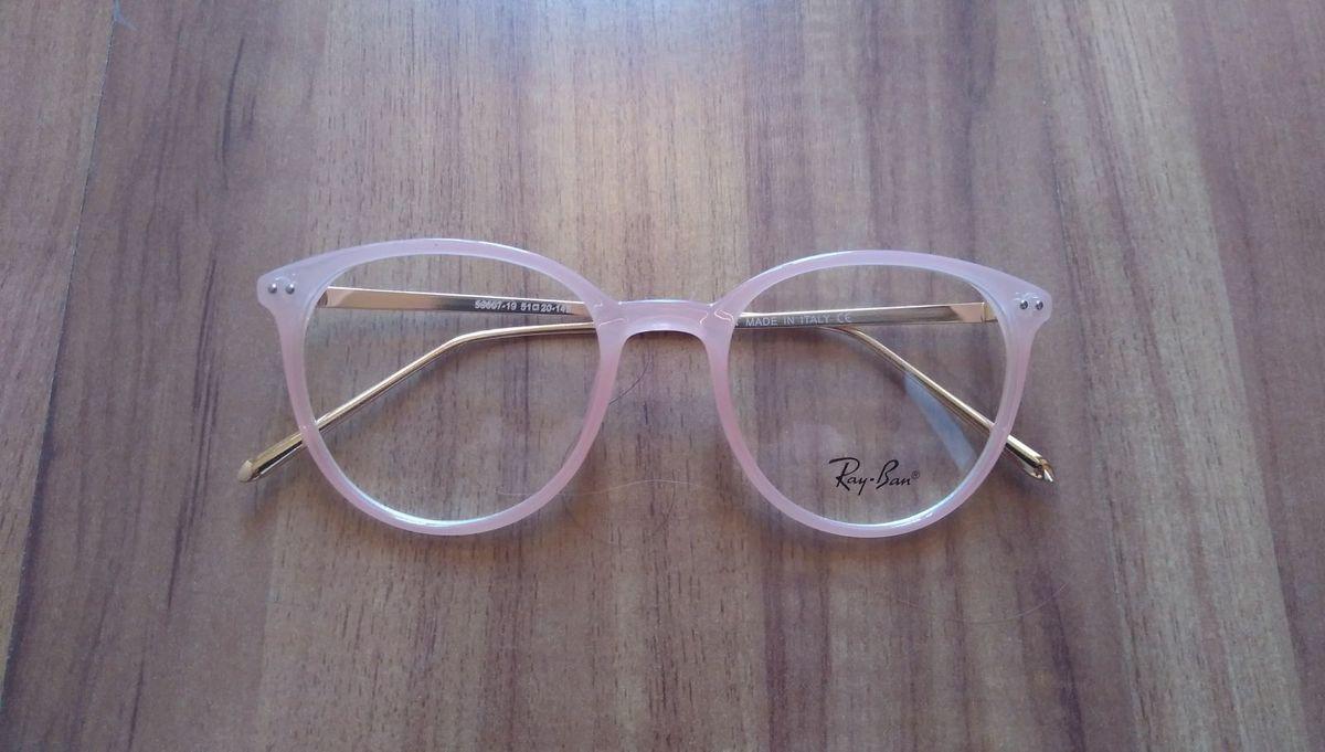 068807526 Ray Ban Rose Armação Óculos Grau Acetato | Óculos Feminino Ray Ban ...