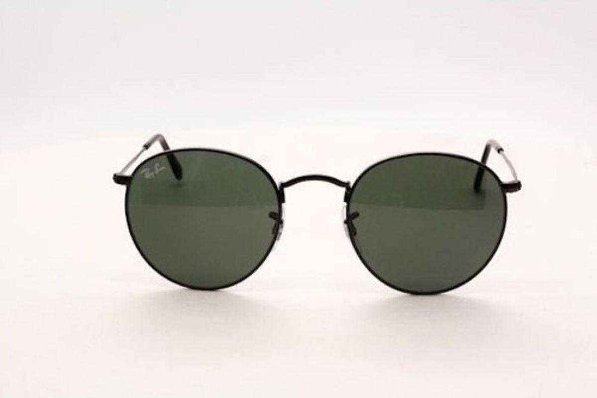 c1af690c7 Ray-ban Round Metal Original Preto G15   Óculos Masculino Ray Ban ...