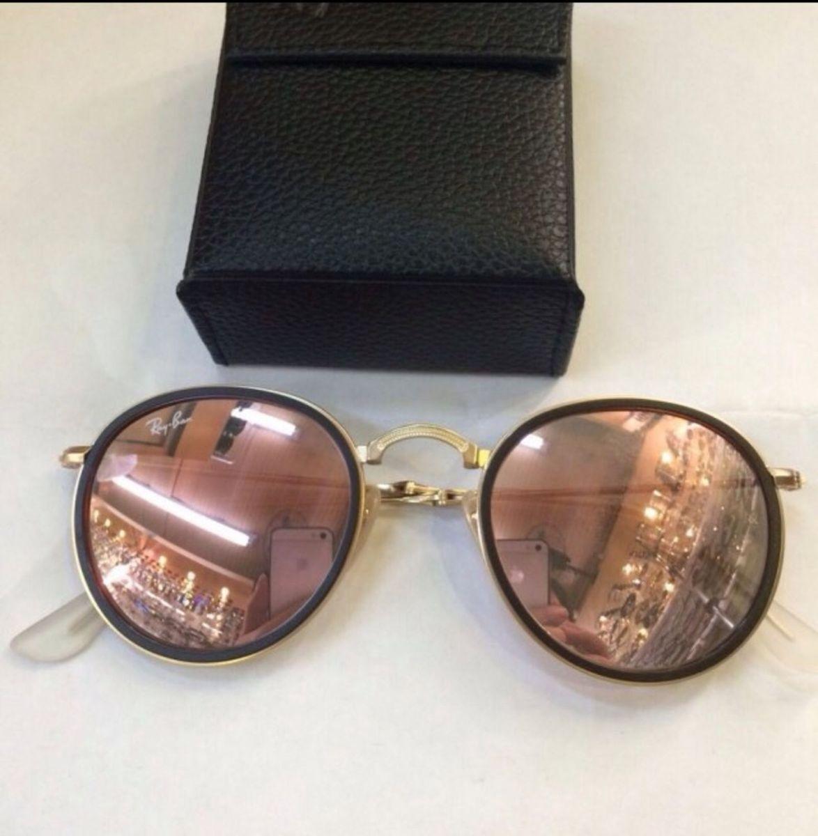 Ray Ban Round Modelo 3517 Original, Dobrável!   Óculos Feminino Ray ... 49ef9b34e6