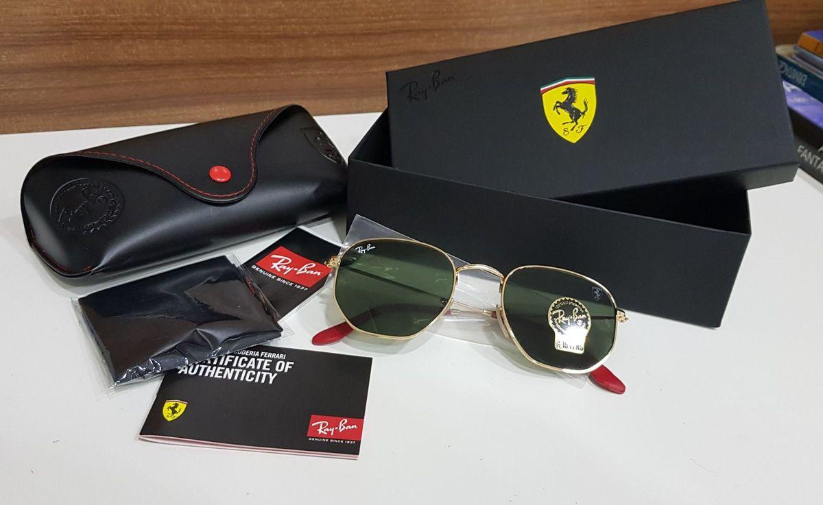 Ray Ban Scuderia Ferrari Hexagonal   Óculos Masculino Ray Ban Nunca ... 64be2cb24c