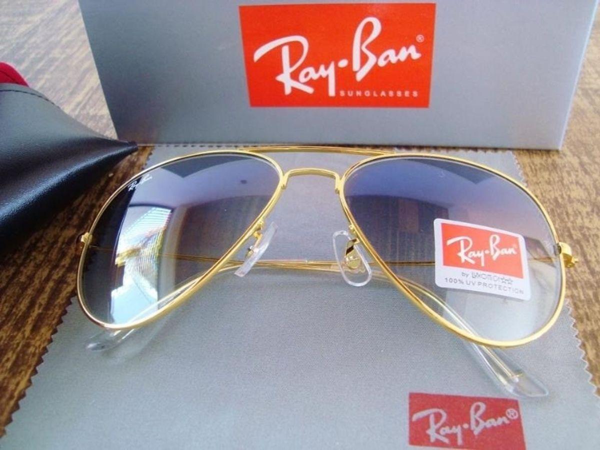 rayban 3026 avidor (g) dourado com lentes azul degradê - óculos rayban 2918c599d7
