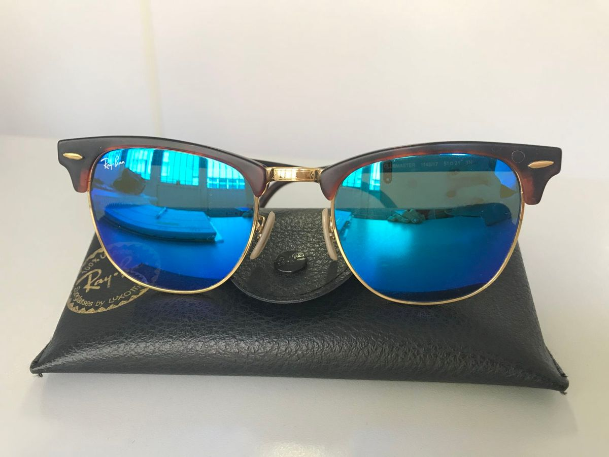 rayban clubmaster espelhado azul - óculos rayban.  Czm6ly9wag90b3muzw5qb2vplmnvbs5ici9wcm9kdwn0cy83ntm0nda0l2rjztfmyzrmzwqwyme4zmnizdcwntblzdq5ztc1m2q5lmpwzw  ... 05a9792595