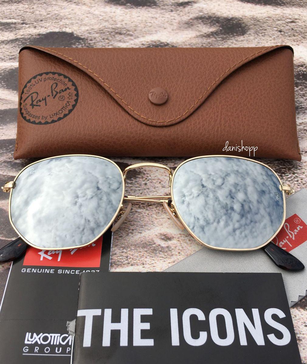 rayban hexagonal prata - óculos ray ban.  Czm6ly9wag90b3muzw5qb2vplmnvbs5ici9wcm9kdwn0cy80odaynza5lzm3ytg4ndu0odjlyjbimmjjngu1nmiwzwqwm2i4mta1lmpwzw  ... 7f048e225b