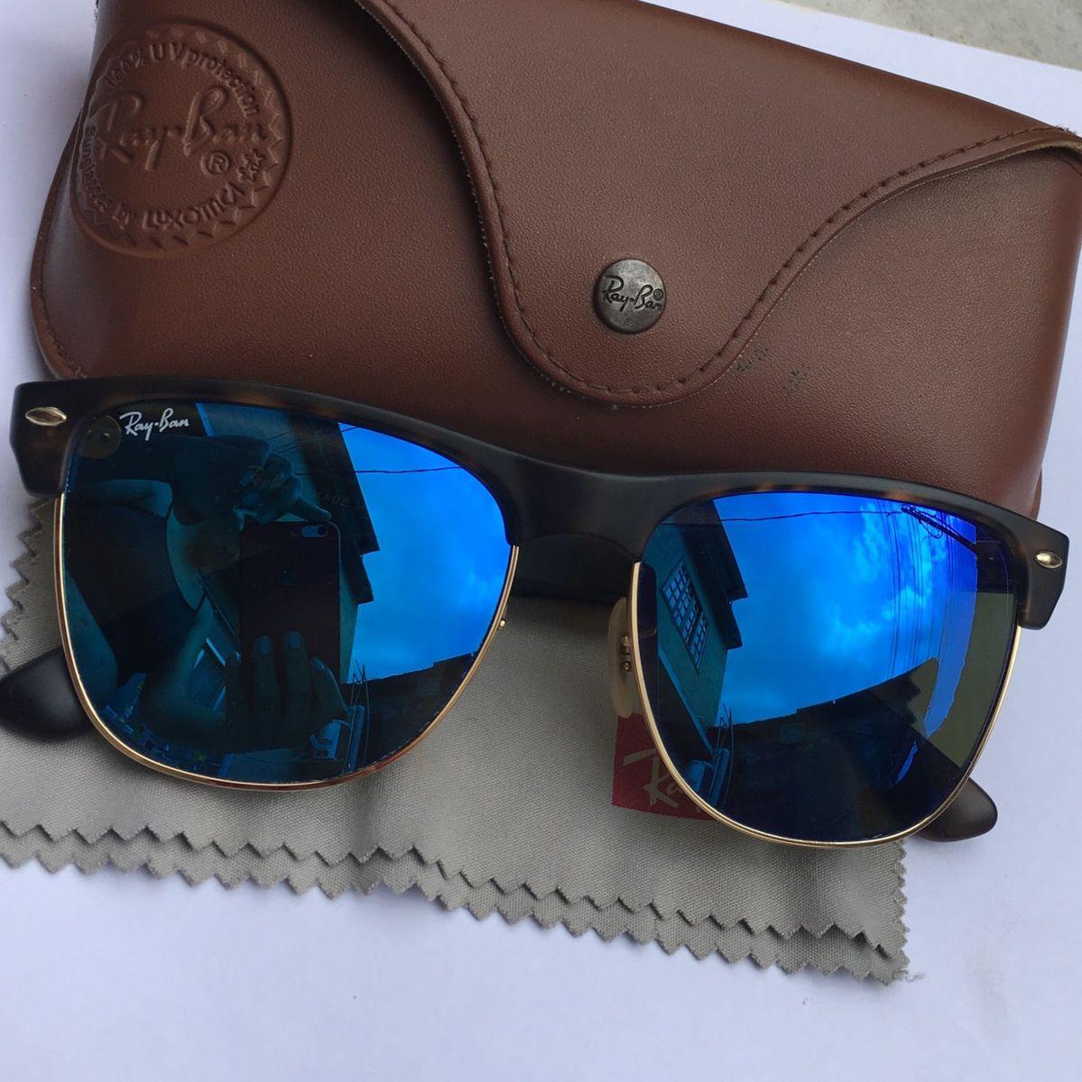 Rayban Pouco Usado Lente Espelhada Azul   Óculos Feminino Ray Ban ... 00d25b8128