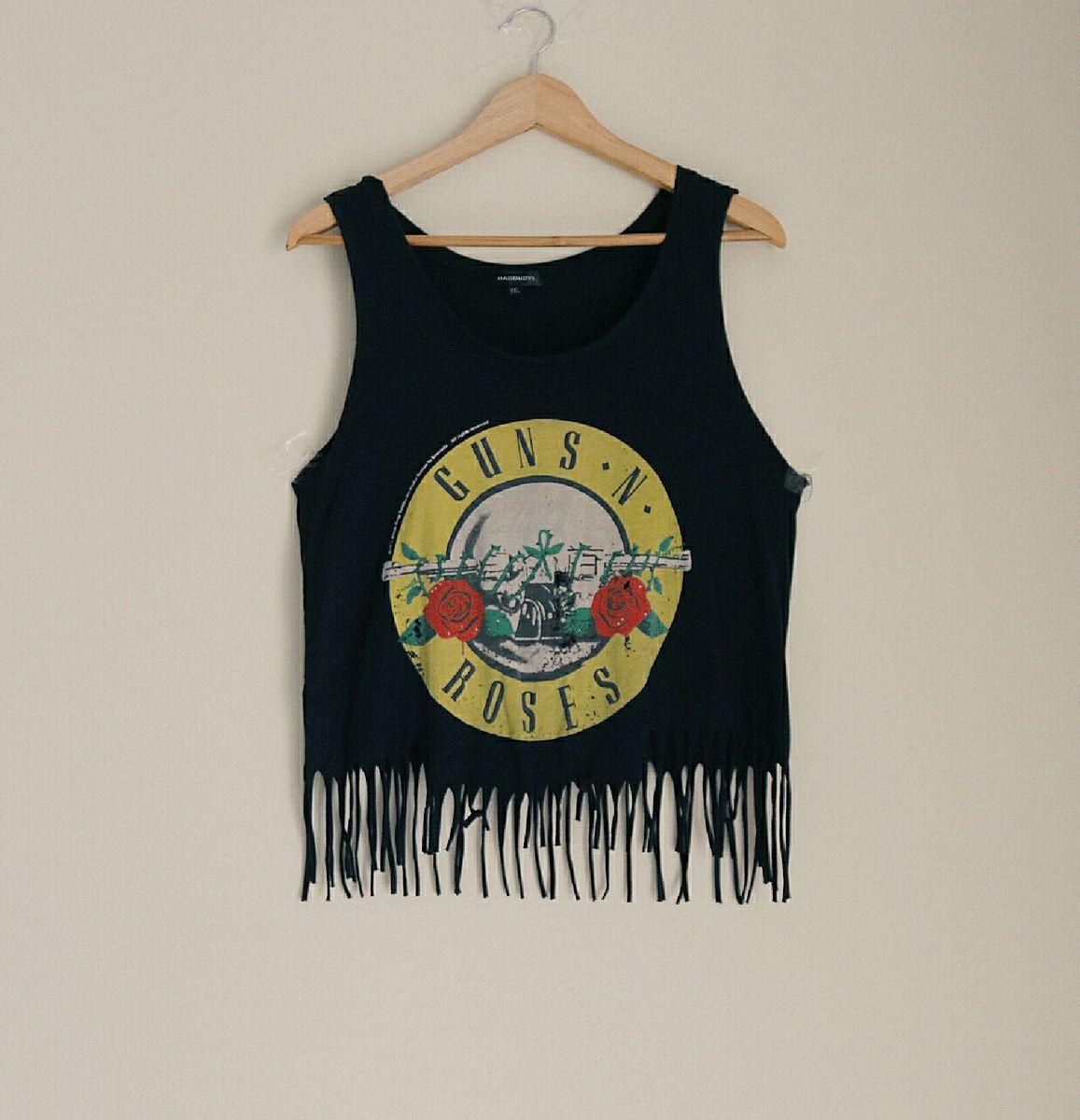 regata banda guns n' roses preta - camisetas sem marca