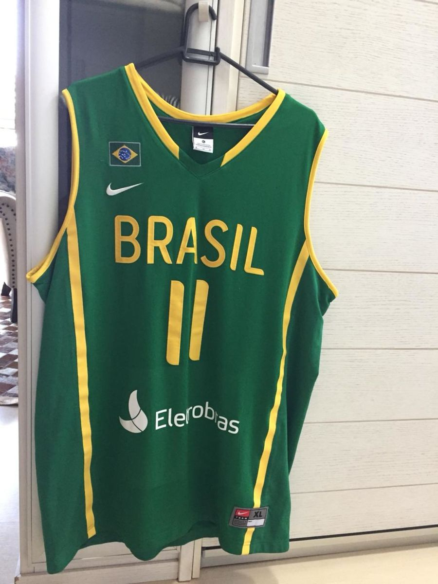 f6da8ec244960 regata basquete nike original seleção brasileira gg - camisetas nike