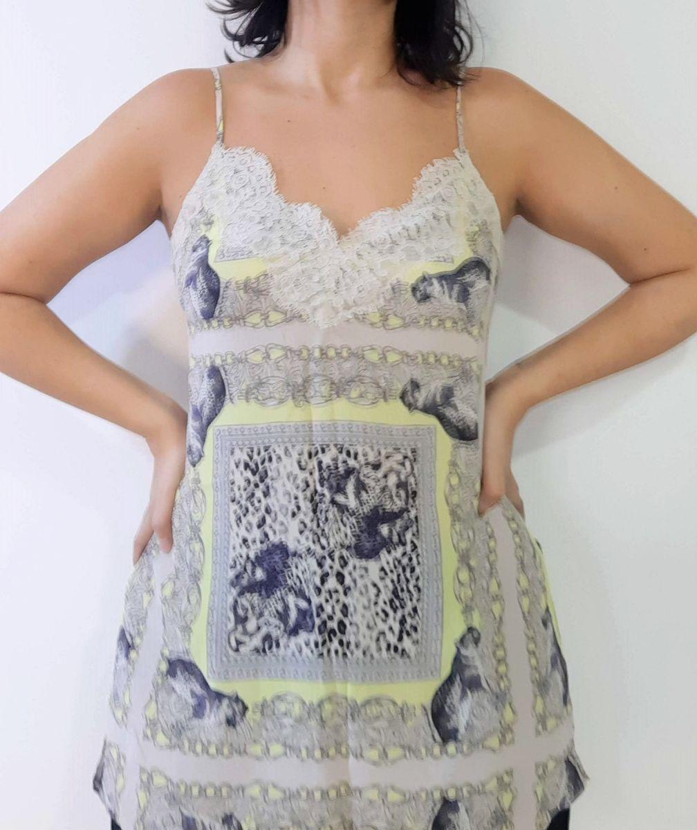 78637f26f Regata de Seda Lelis Blanc | Blusa Feminina Le Lis Blanc Nunca Usado ...