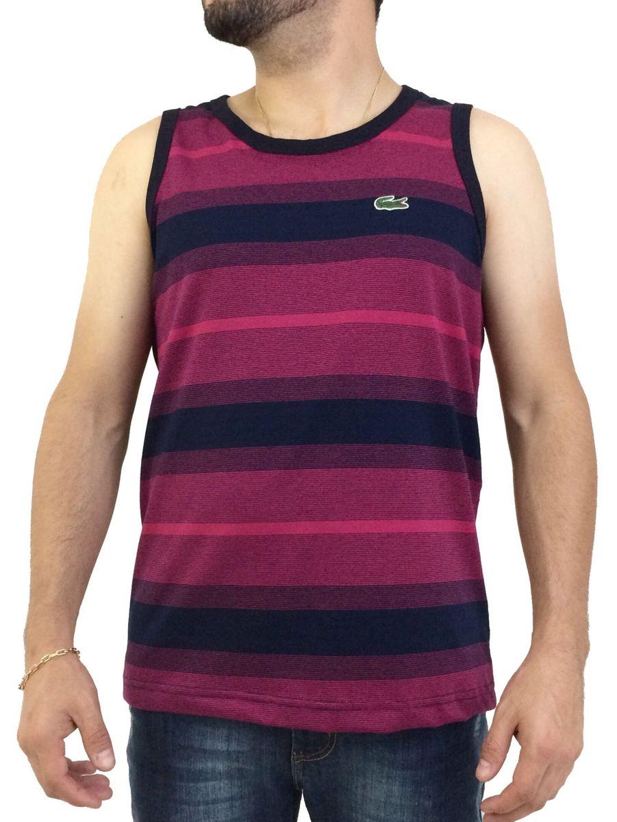 bd4845a8d2 regata masculina listrada com elastano lacoste live tam m - camisetas  lacoste