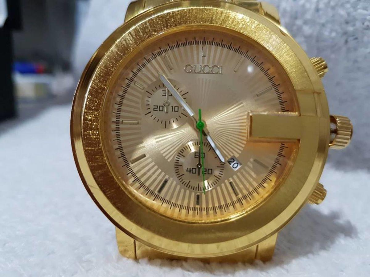 8ee6b05d474df relogio modelo aço inoxidavel dourado gucci - relógios gucci