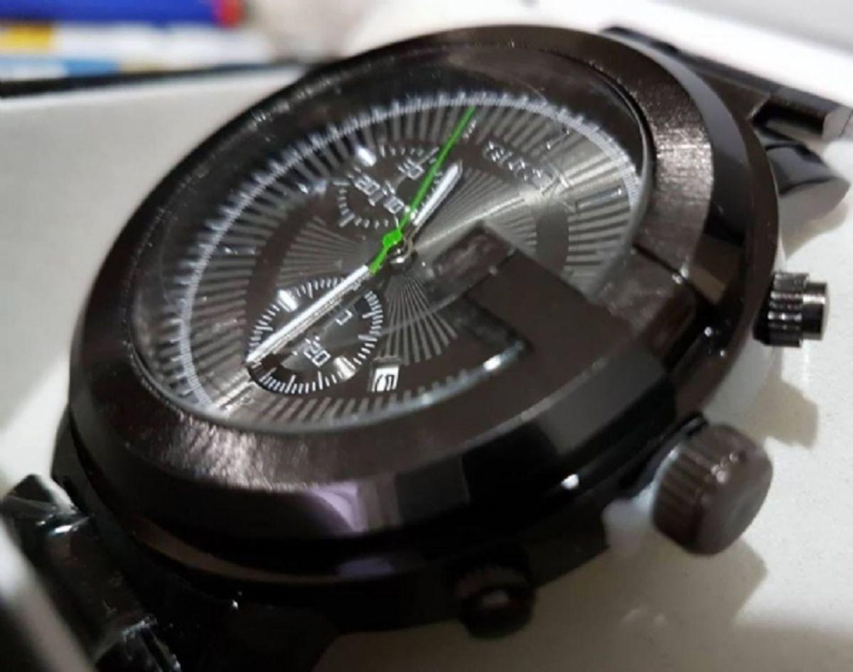 6d5495b1ee9 relogio aço inoxidavel preto gucci - relógios gucci