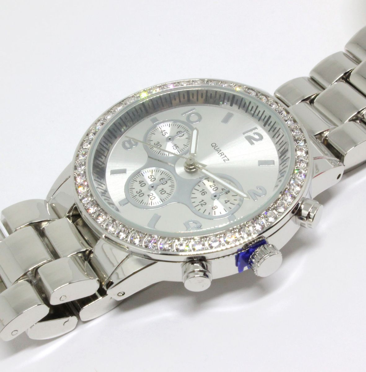 4812b63cb6b relógio aeropostale original importado prata com strass - relógios  aeropostale