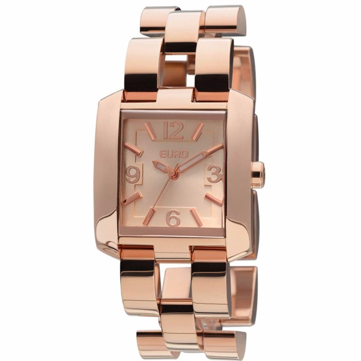 relógio analógico euro orsa eu2035lqd 4t - rose gold - relógios euro 693478422c