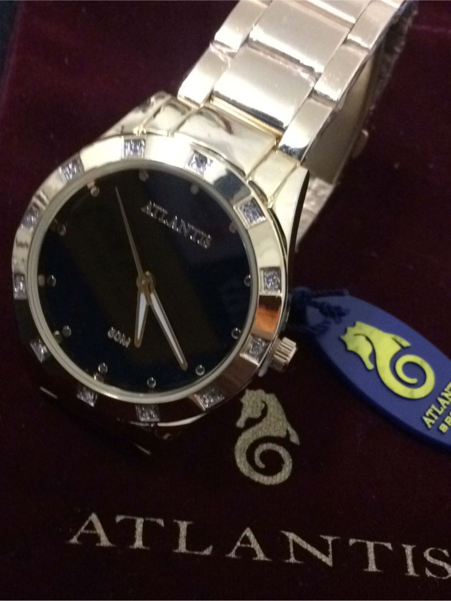 bb3719ddc5 relógio analógico feminino marca atlantis g3451 dourado e preto - relógios  atlantis