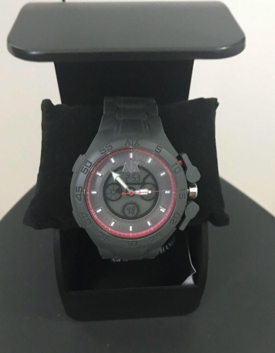 8c60fb5697b relogio armani exchange emborrachado digital e analogico - relógios armani  exchange