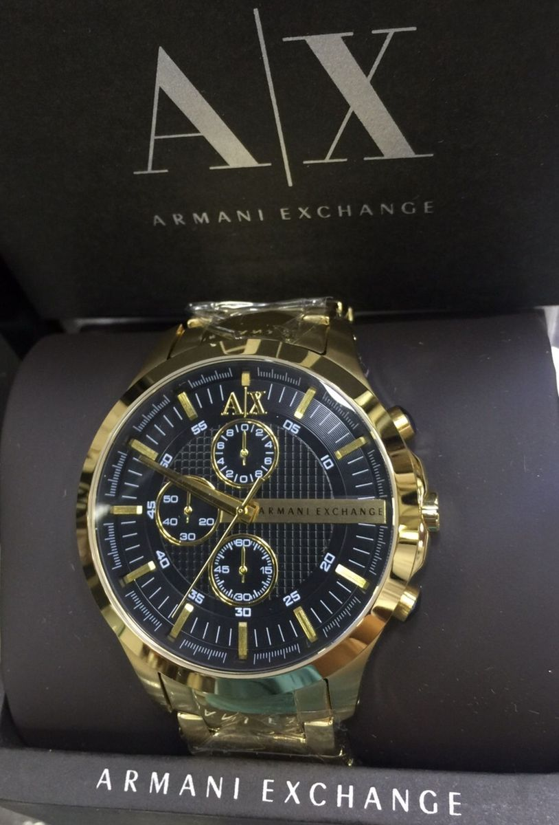relogio armani exchange preto dourado caixa manual - relógios armani  exchange 94dd137e8b