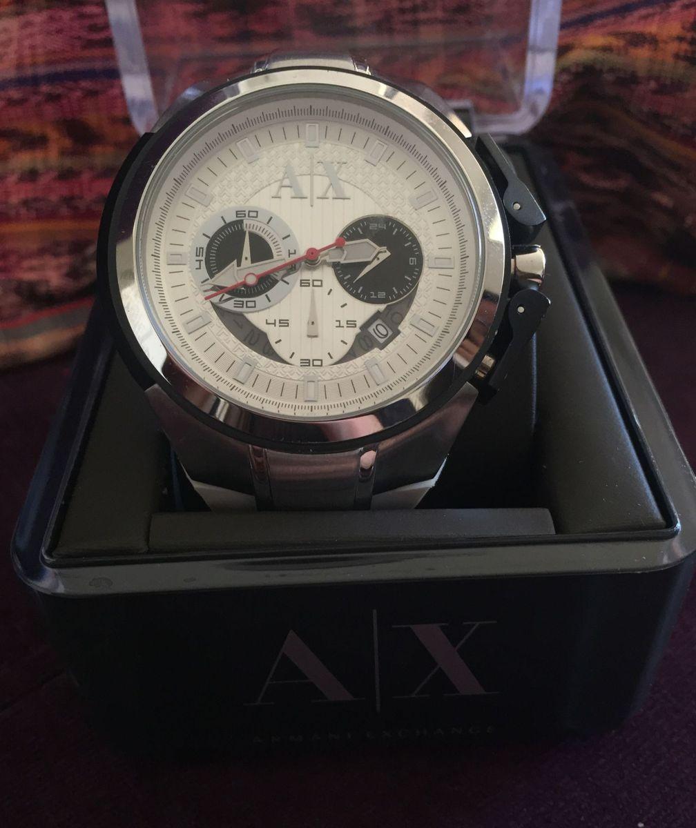 792a1f12fd1 relógio armani pulseira branca de borracha - relógios armani exchange