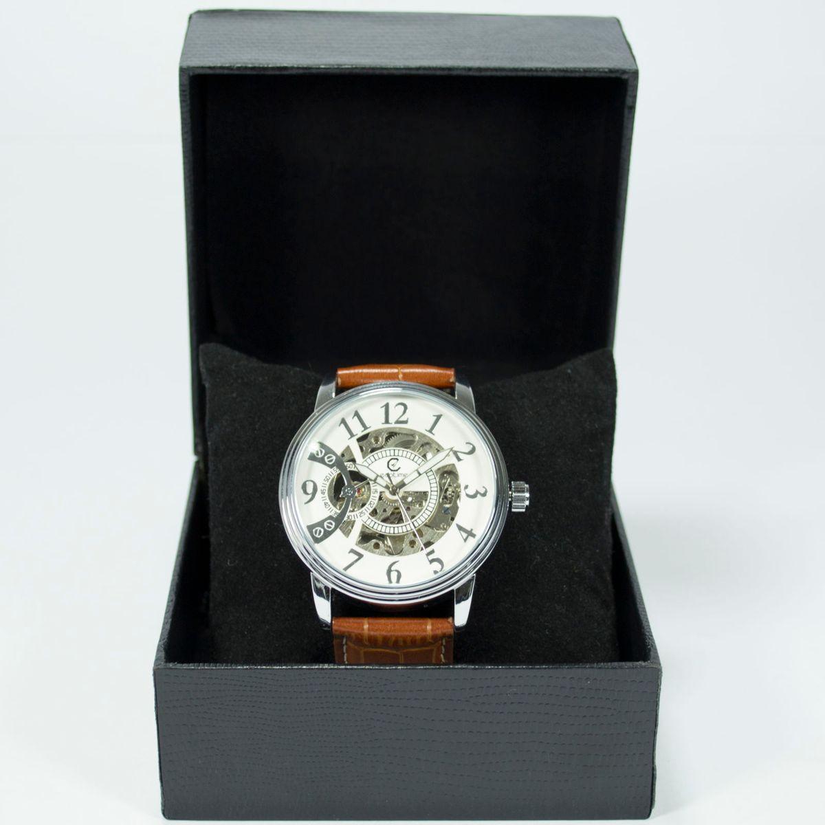 44e530520c3 Relógio Automatico Original Ecotime - Modelo Clássico em Couro ...