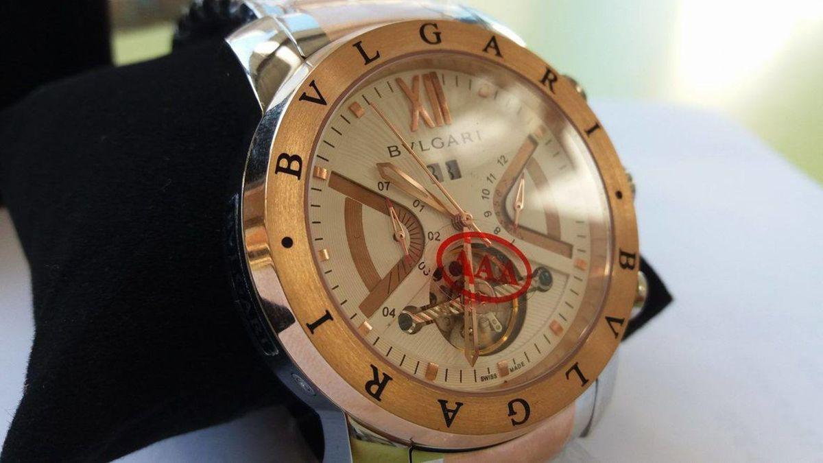 1f404aa7fc3 relógio bulgari iron man automático dourado - relógios bvlgari