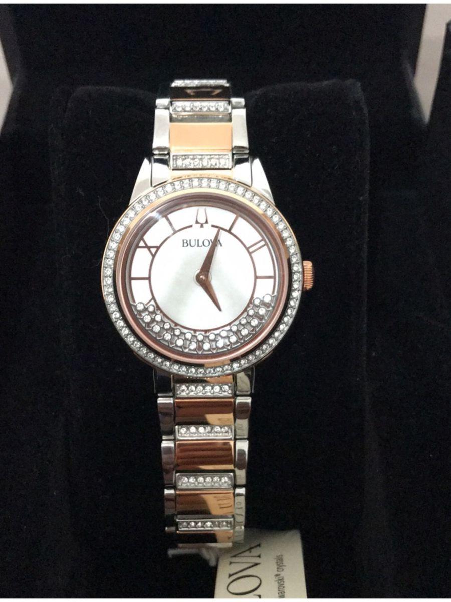 1aaf49d94cb relógio bulova crystal turnstyle watch - relógios bulova