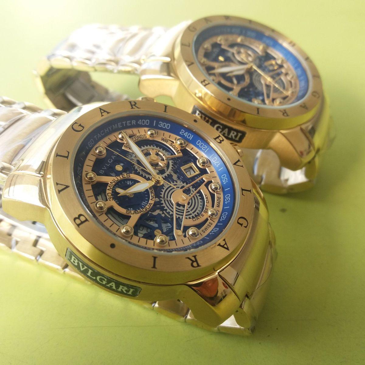 48a5ea6a369 Relógio Bvlgari Esqueleto Bateria