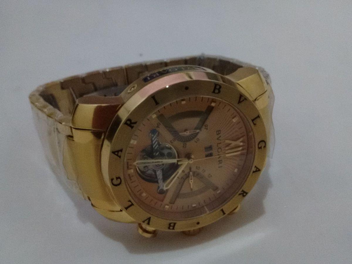 fba647b0d50 Relógio Bvlgari Iron Man Dourado + Frete Gratis!
