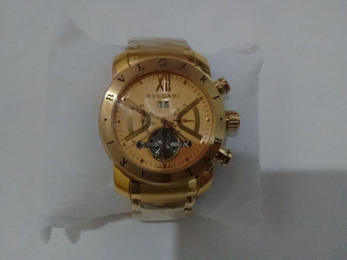 7b73f57fc69 relógio bvlgari iron man dourado + frete gratis! - relógios bvlgari