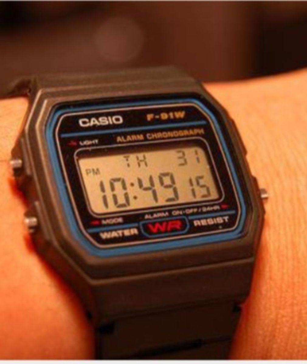 b63ba519793 relógio casio borracha preto a prova d água digital vintage retro - relógios  casio