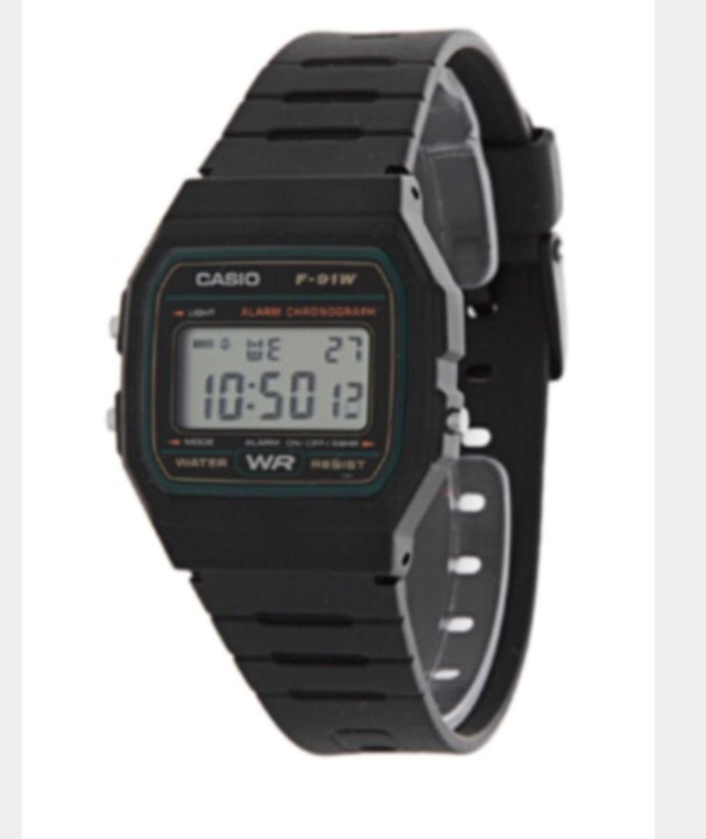 1b9570eba0e relógio casio borracha preto a prova d água digital vintage retro - relógios  casio
