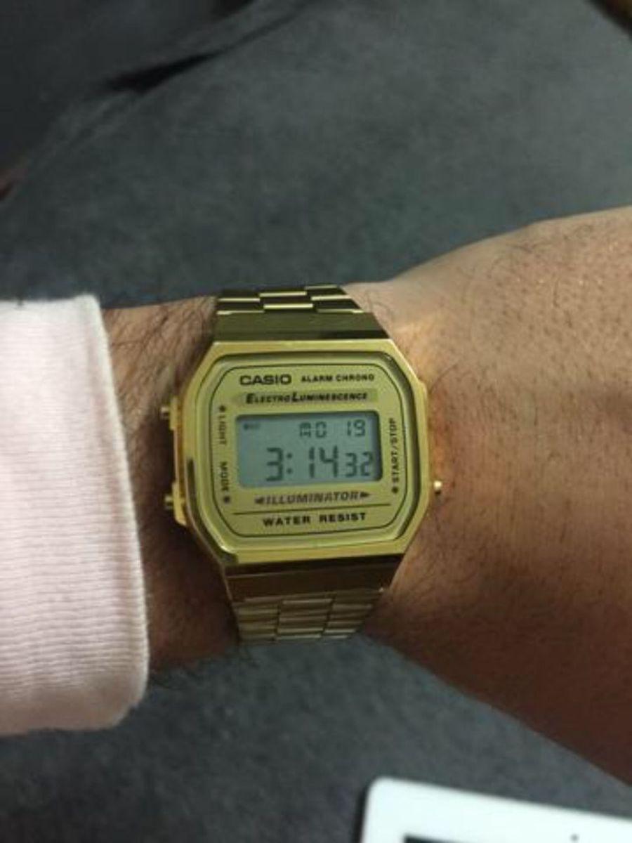 60c9a37c908 relogio casio dourado seminovo - relógios casio.  Czm6ly9wag90b3muzw5qb2vplmnvbs5ici9wcm9kdwn0cy84nzk5njgxl2q1ngzindfhmda4njgzodnimmq1njzmntiynjjhmmi2lmpwzw  ...