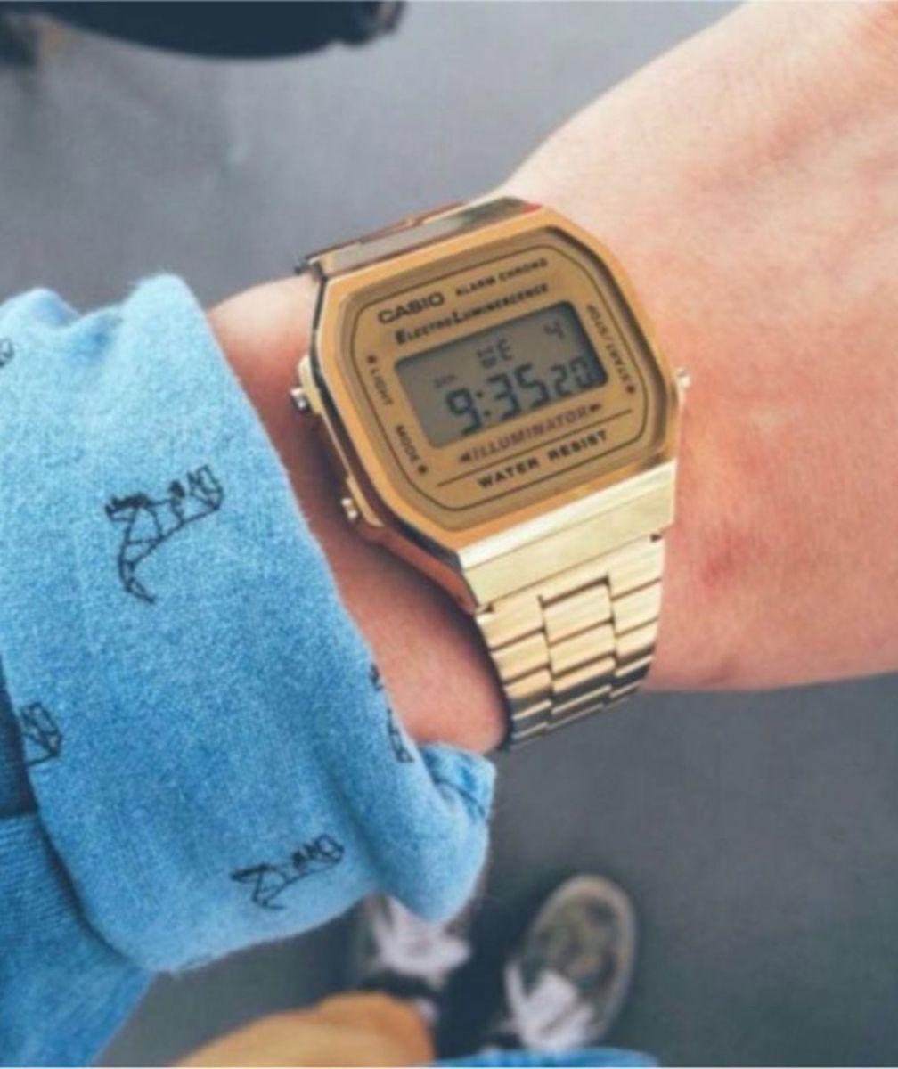 38137b36fa9 relógio casio dourado tela dourada - relógios casio