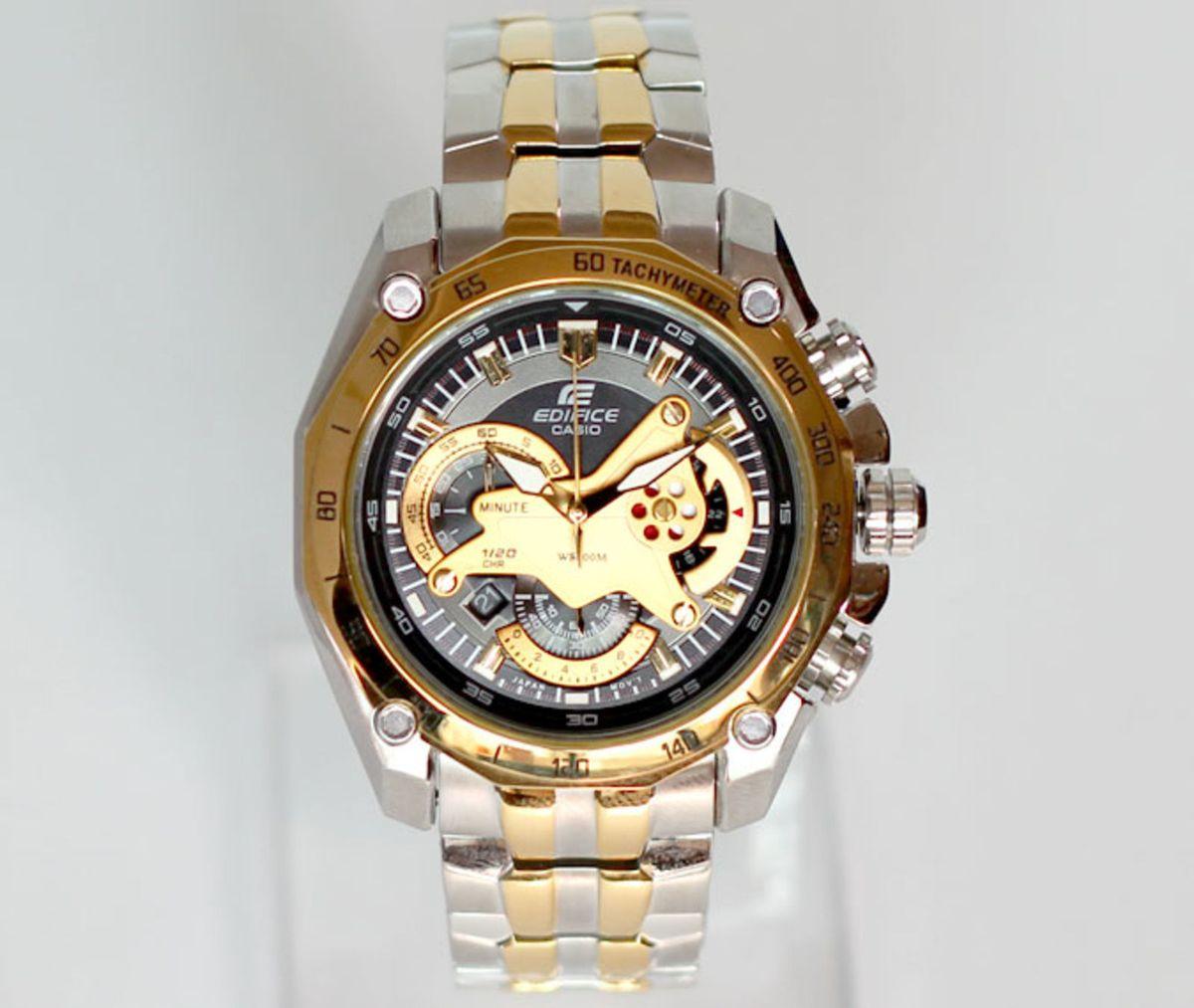 df89f3399e7 relógio casio edifice ef-550 preto pulseira mista - relógios casio edifice