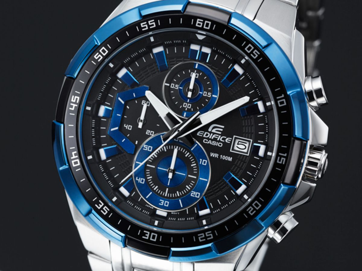 c3d41137766f relógio casio edifice efr 539 preto azul - relógios casio edifice