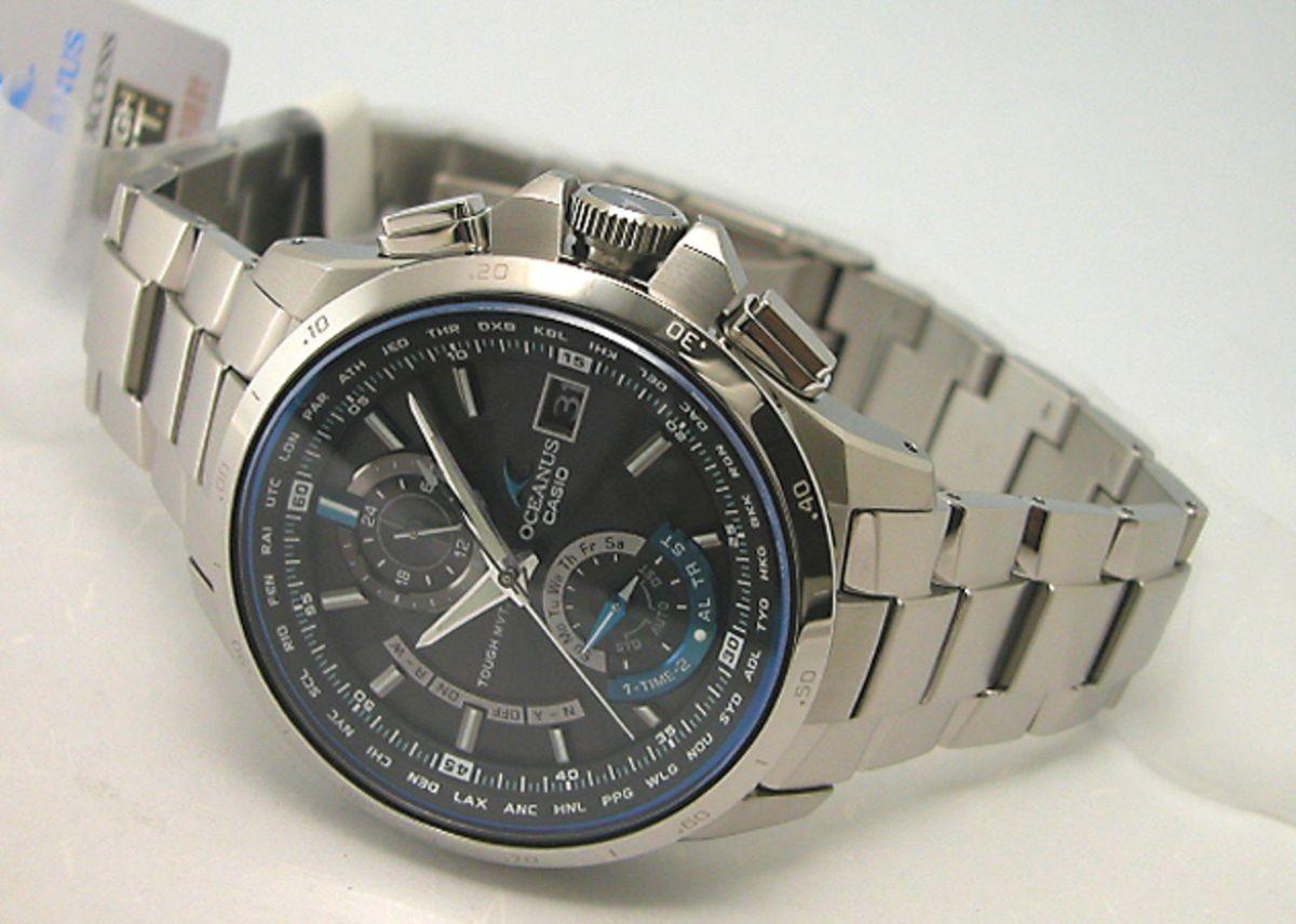 c69cdf8b11b relógio casio edifice oceanus ocw-t1000 prata - importado e novo - relógios  casio