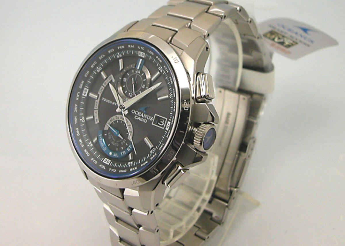 9fa14ef8903 Relógio Casio Edifice Oceanus Ocw-t1000 Prata - Importado e Novo ...