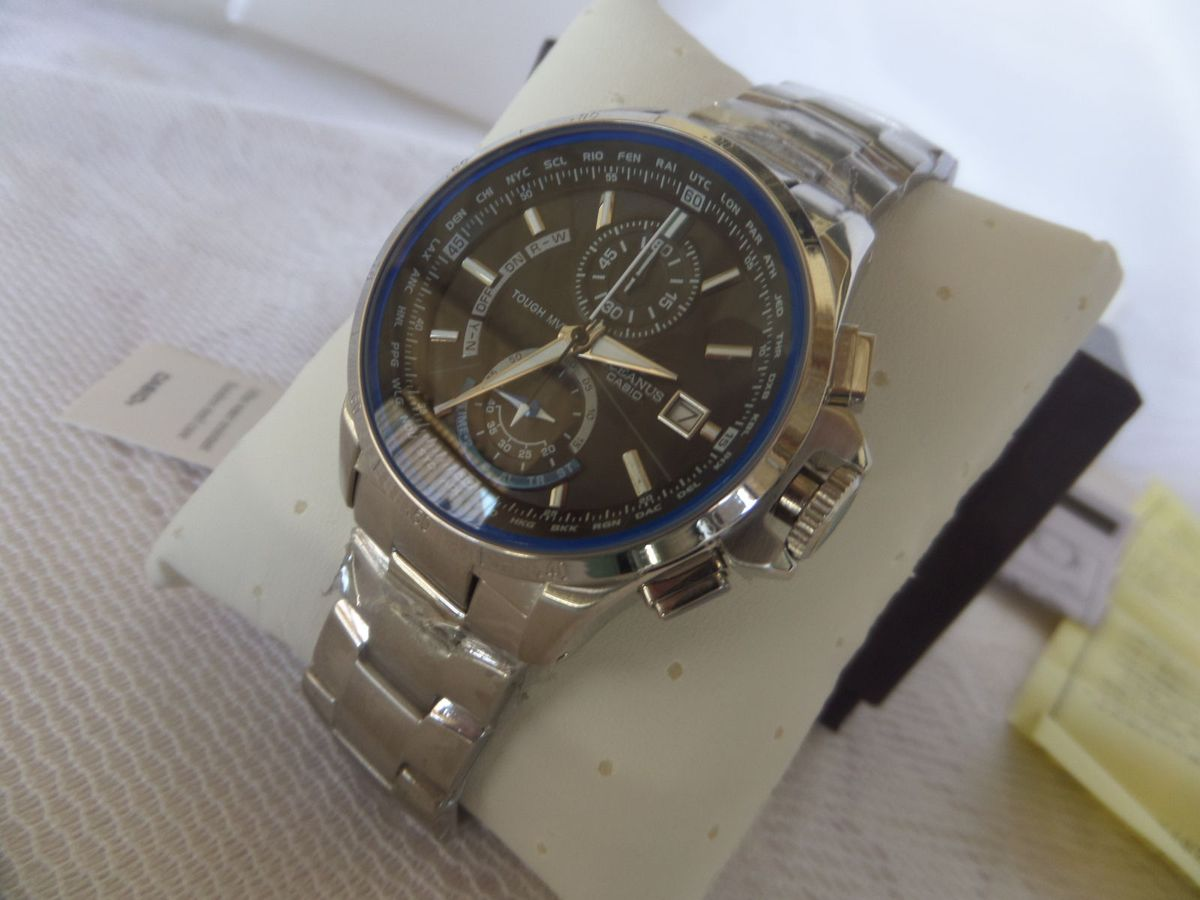 2dcb35c35f3 relógio casio edifice oceanus ocw-t1000 prata - importado e novo - relógios  casio edifice