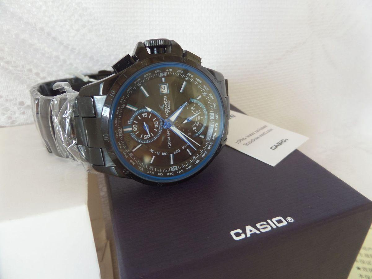f465866ca14 relógio casio edifice oceanus ocw-t1000b-1a preto - importado e novo -  relógios