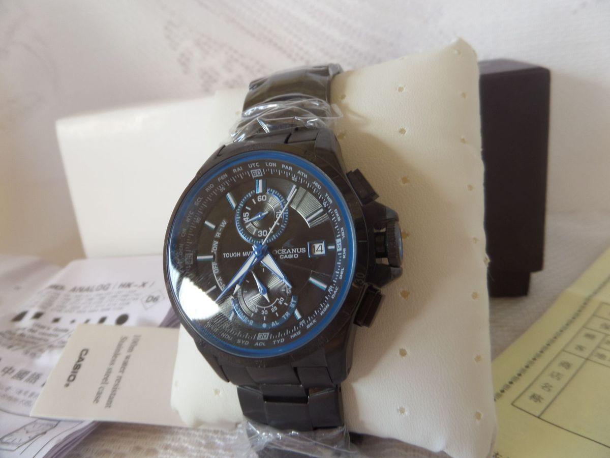 b356dcc485e Relógio Casio Edifice Oceanus Ocw-t1000b-1a Preto - Importado e Novo ...