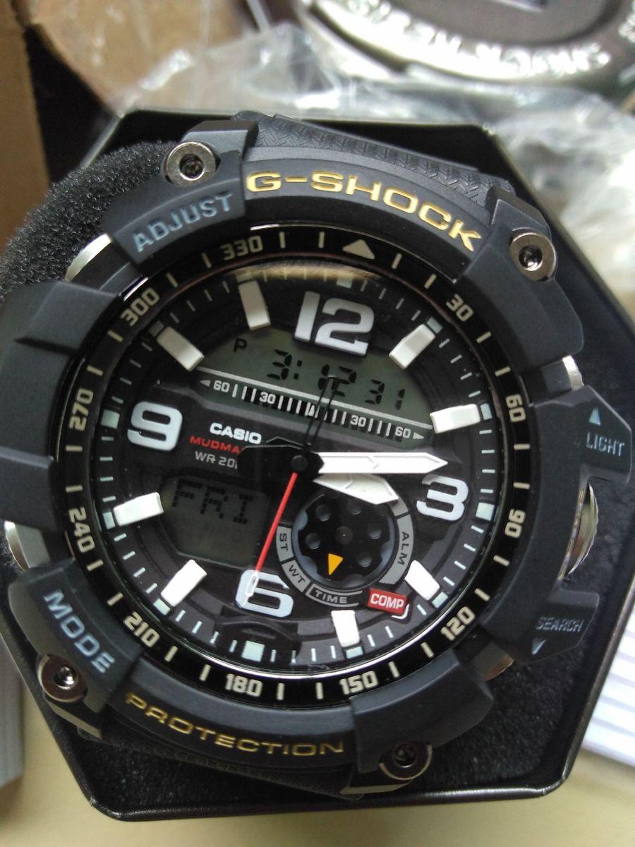 24de327cc35 relógio casio g shock mudmaster 100% original bussola termômetro - relógios  casio