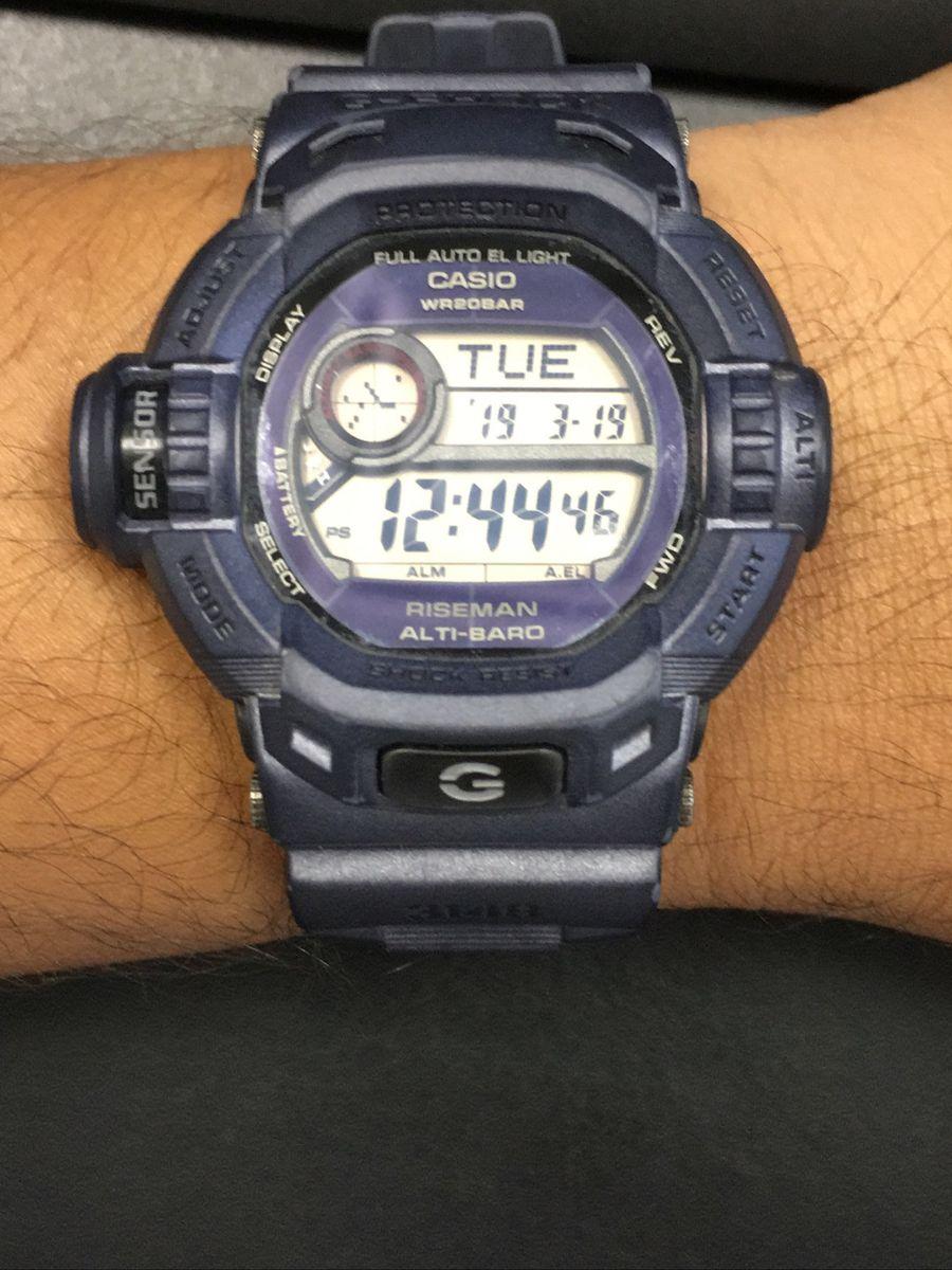 relógio casio g-shock riseman - relógios casio